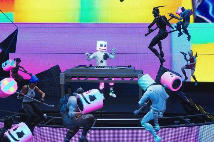 Konser Marshmello dalam game Fortnite