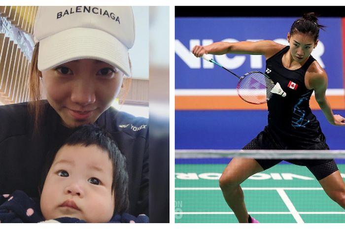 Michelle Li bersama keponakannya.