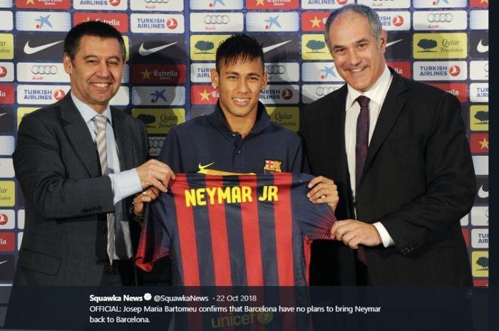 Neymar menjadi pembicaraan hangat di kalangan sepak bola terkait isu kepulangannya ke FC Barcelona.