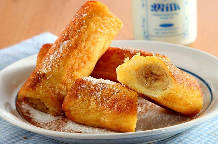 Resep Membuat Banana Roll French Toast