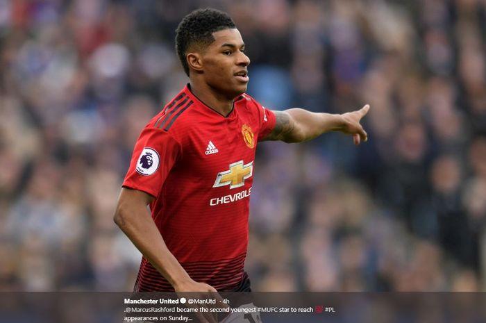 Penyerang muda Manchester United, Marcus Rashford.