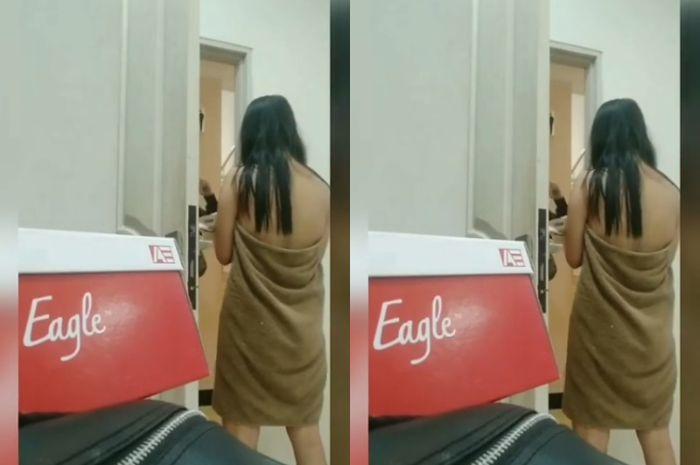 Video Viral Wanita Copot Handuk di Depan Ojek Online Tersebar di Media Sosial, Netizen DibuatGeram