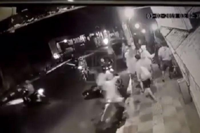 Aksi diduga geng motor di Semarang, Jawa Tengah