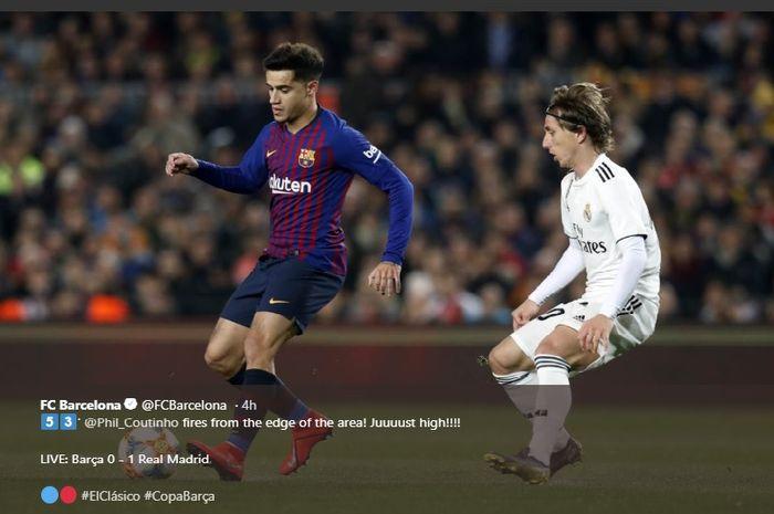 Philippe Coutinho disebut hampir pasti dijual Barcelona, Manchester United menampung?