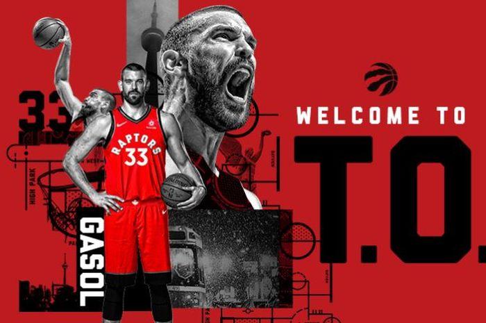 Marc Gasol gabung ke Toronto Raptors