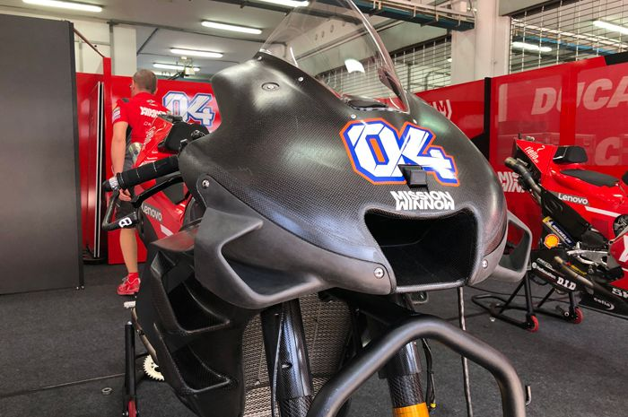 Penampakan aerofairing motor MotoGP Ducati, banyak banget wingletnya