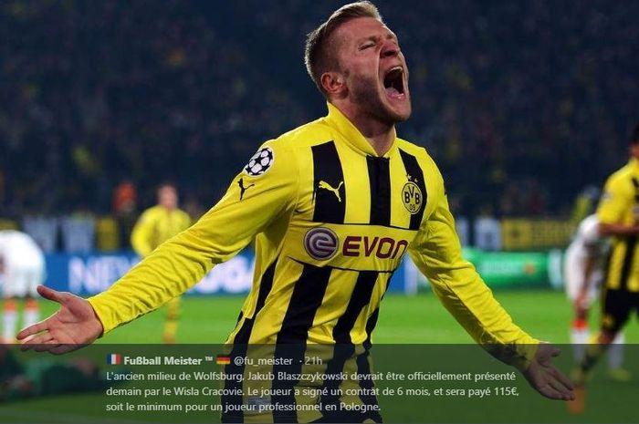 Jakub Blaszczykowski saat membela Borussia Dortmund.