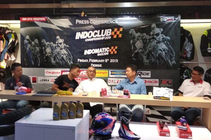 Konferensi pers Indoclub Championship 2019.