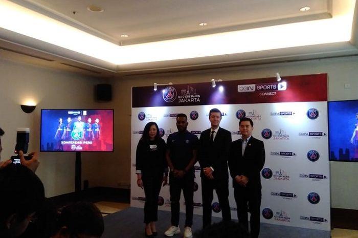 Paris Saint Germain dan tim eSports Indonesia, RRQ di Bimasena, Dharmawangsa, Jumat, (8/1/2019).