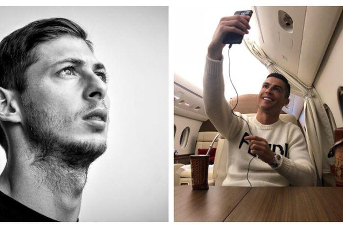 Cristiano Ronaldo berikan penghormatan untuk Emiliano Sala.