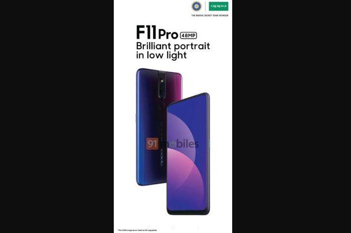 Gambar terbaru Oppo F11 Pro