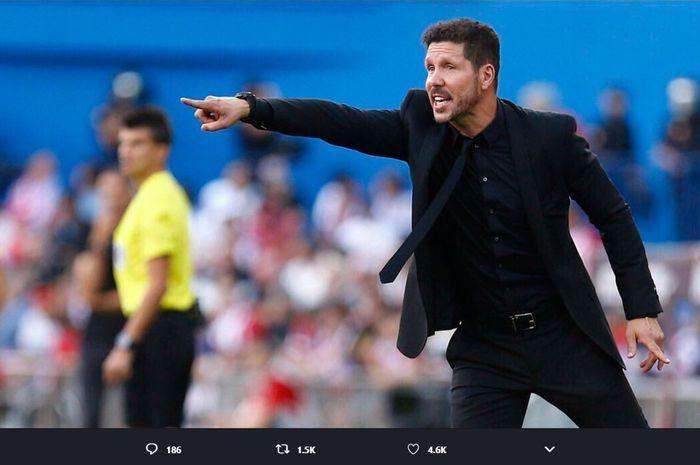 Pelatih Atletico Madrid, Diego Simeone menolak menyalahkan VAR sebagai biang keladi atas kekalahan timnya dari Real Madrid.