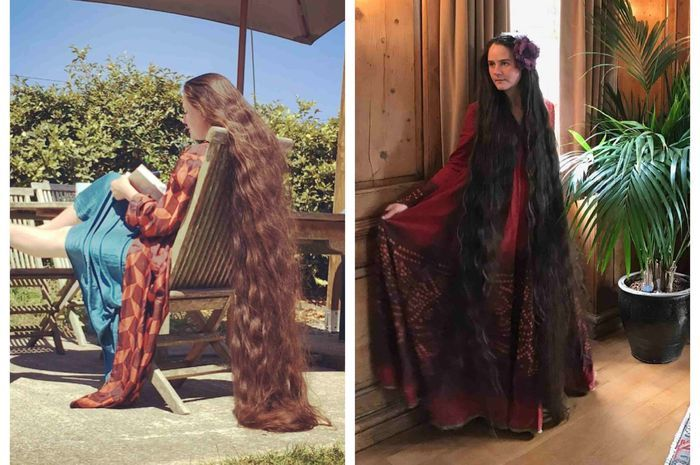 Wanita berambut panjang.