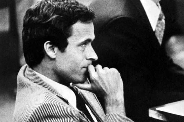 Ted Bundy di pengadilan Florida, 1979.