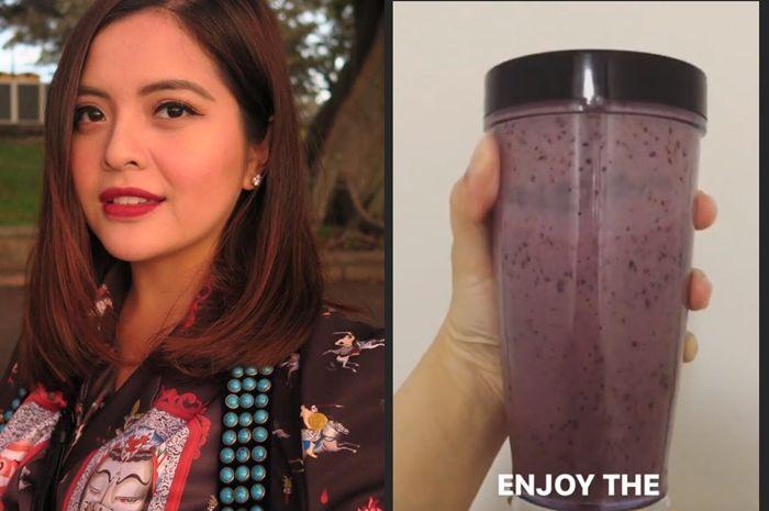 Smoothies pisang blueberry ala Tasya Kamila