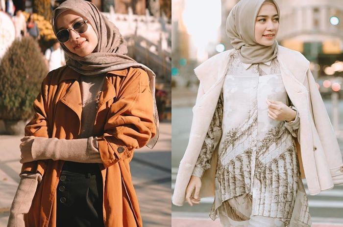 Inspirasi Fashion Hijab dengan Outer ala Mega Iskanti Agar Kamu Makin Modis Saat Liburan