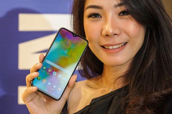 Samsung menggelar acara unboxing seri Galaxy M20  di Jakarta pada Senin (11/2).