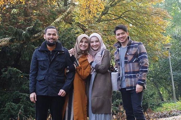 Gaya kompak Shireen Sungkar dan Zaskia Sungkar dengan para suami