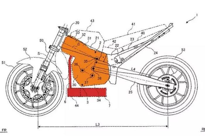 Paten terbaru motor Suzuki dengan mesin unik