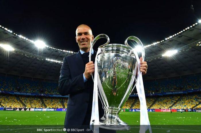 Pelatih Real Madrid, Zinedine Zidane.