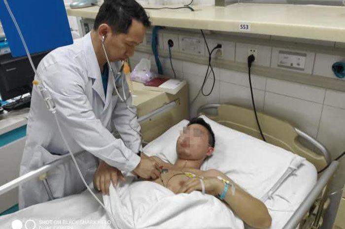 Pria yang diklaim menderita penyakit infark miokard