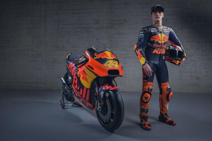 Pol Espargaro menghadiri sesi peluncuran tim KTM untuk MotoGP 2019 di Austria, Selasa (12/2/2019).