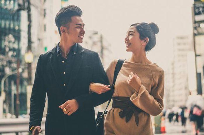 Ilustrasi pasangan Korea Selatan.