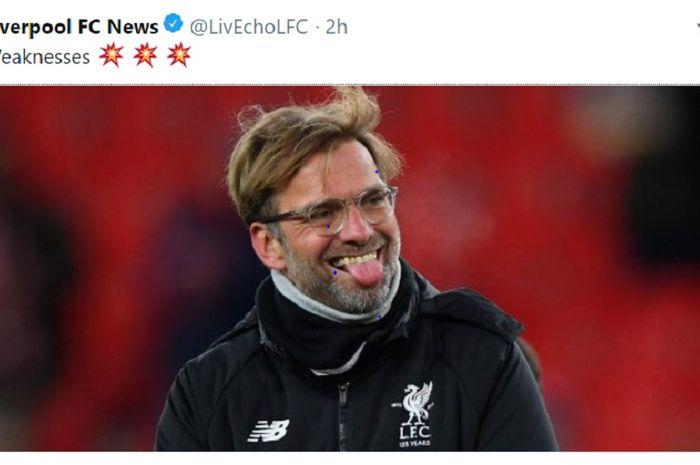 Pelatih Liverpool Juergen Klopp menatap  juara Liga Inggris 2018-2019.
