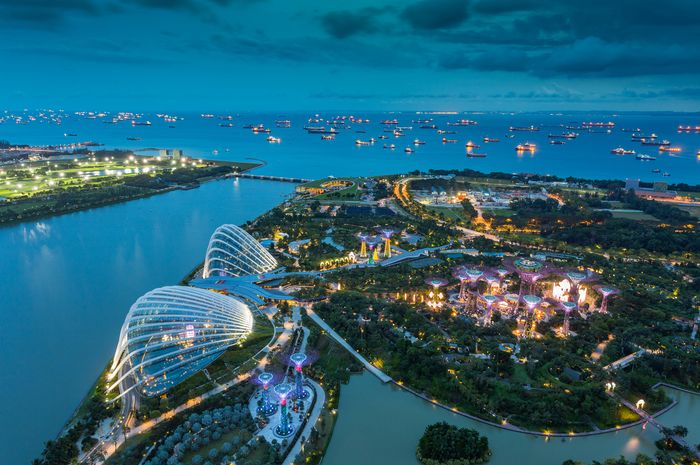 Singapura tampak atas.