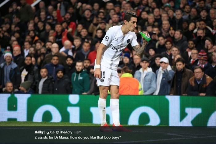 Angel Di Maria cetak 2 assist dan sukses bantu PSG kalahkan Manchester United di Liga Champions
