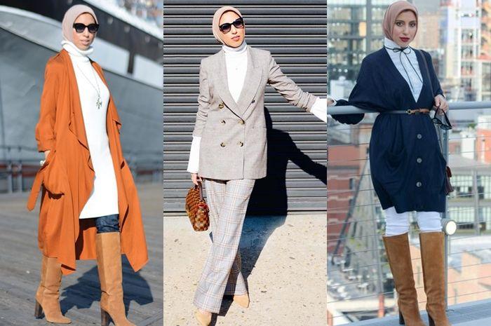 Inspirasi Mix and Match Busana Hijab Simpel ala Fashion Blogger Amerika, Cocok untuk yang Baru Berhijab!