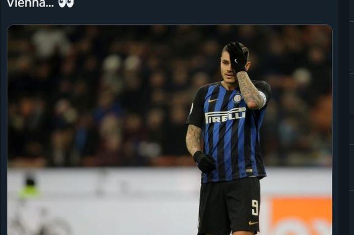 Striker Inter Milan, Mauro Icardi.