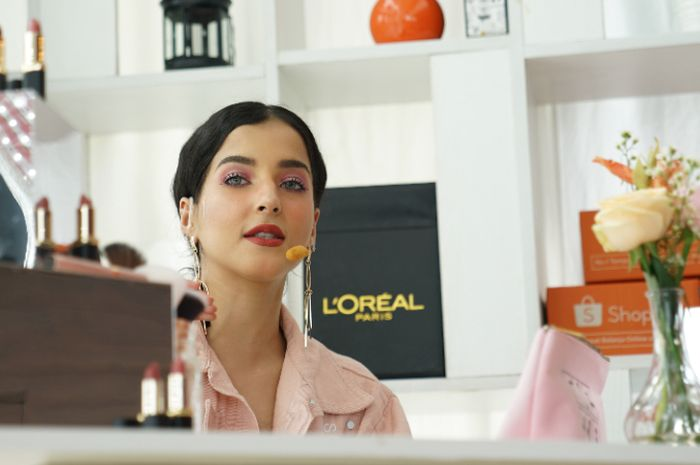 Tasya Farasya di acara BincangShopee Beauty Content Creation L'Oreal Paris x Tasya Farasya