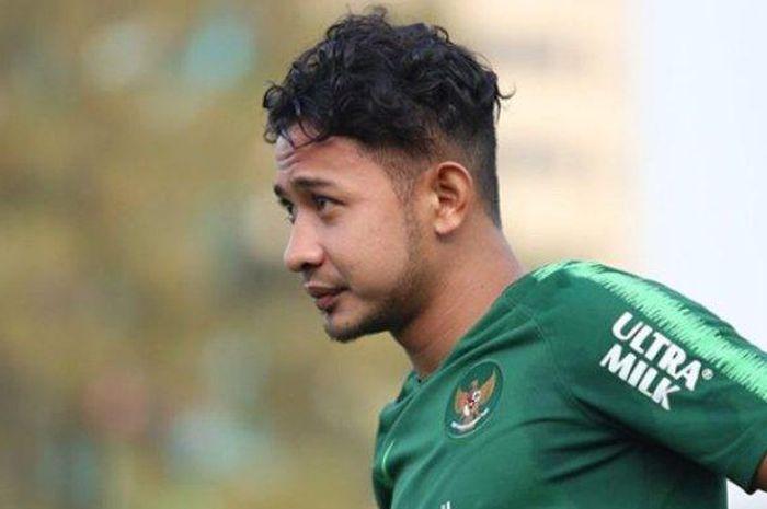 Gian Zola saat menjalani pelatihan Timnas Indonesia U-22 pada Senin (7/1/2019).