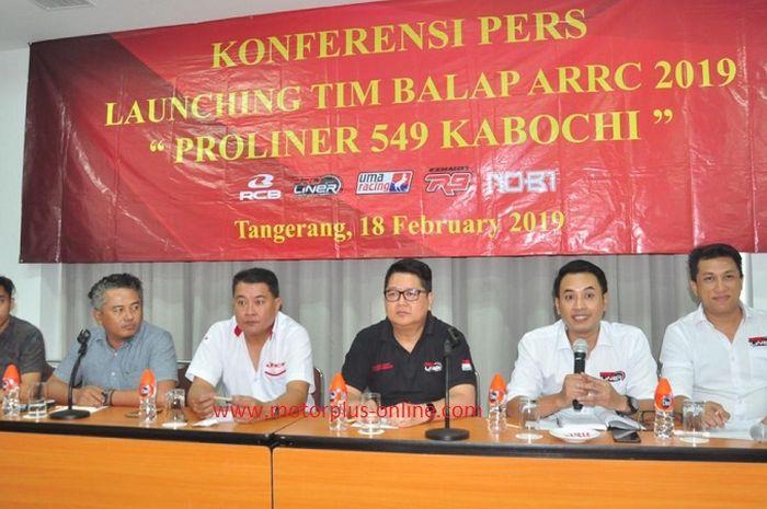 Knalpot Proliner menggandeng tim balap untuk mengikuti balap Asia.