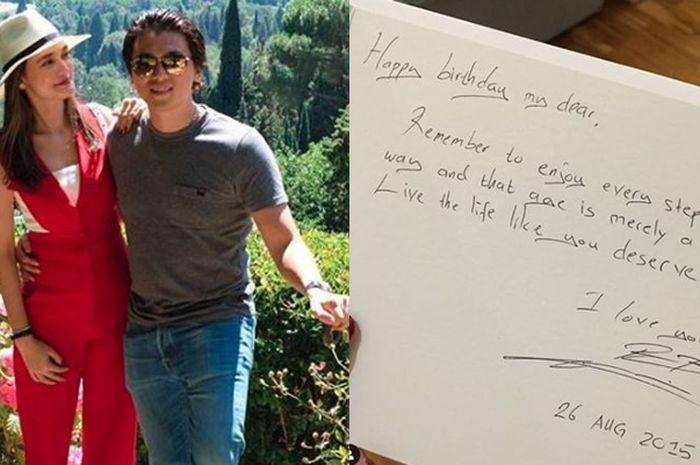 Surat Cinta Reino Barack Untuk Luna Maya Sweet Tapi