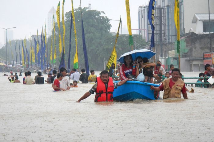 Banjir di Jakarta pada 2014.