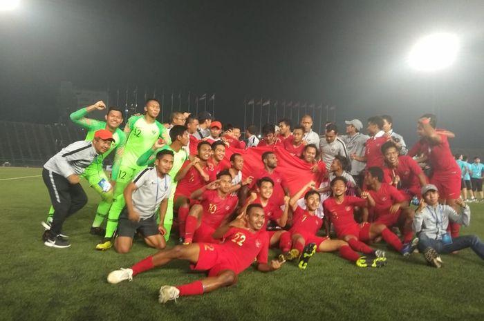 Timnas U-22 Indonesia meraih gelar juara Piala AFF U-22 2019.