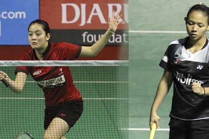 Duet ganda putri baru Della Destiara Haris (kanan) dan Tania Oktaviani Kusumah (kiri) akan kembali bertanding di German Open 2019.