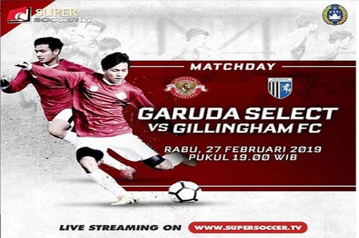 Garuda Select akan menghadapi Gillingham FC U-17