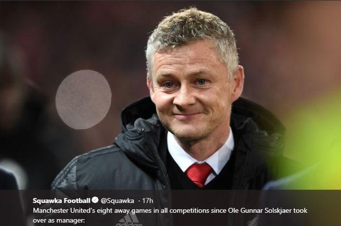 Pelatih interim Manchester United, Ole Gunnar Solskjaer.