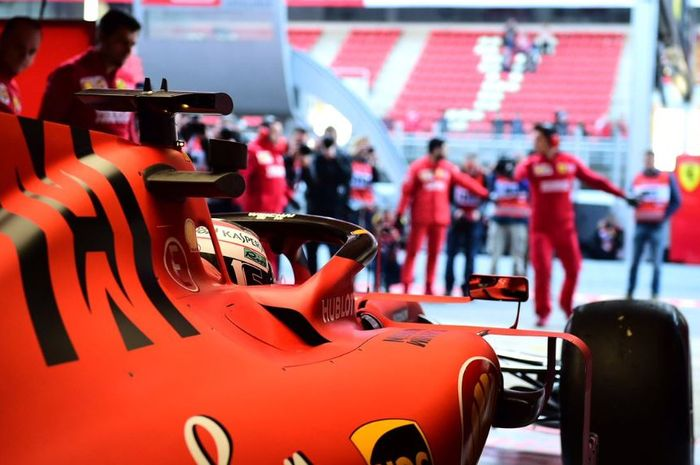 Charles Leclerc, jelang tes pramusim Formula 1 (F1) Barcelona, Spanyol.