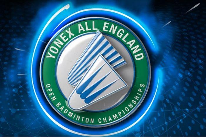 Logo resmi turnamen bulu tangkis All England Open.
