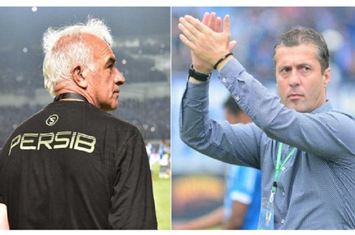 Mario Gomez dan Miljan Radovic, mantan dan pelatih Persib Bandung saat ini.