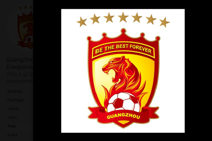 Logo Guangzhou Evergrande, Klub Liga Super China.
