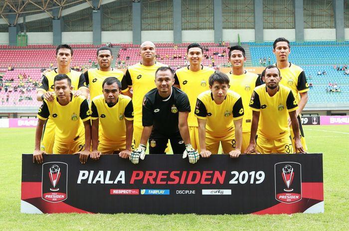 Skuat Bhayangkara FC di Piala Presiden 2019.