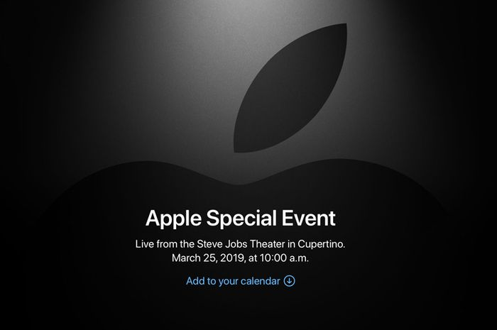 Pengumuman Apple Special Event 'It's Show Time' 25 Maret 2019