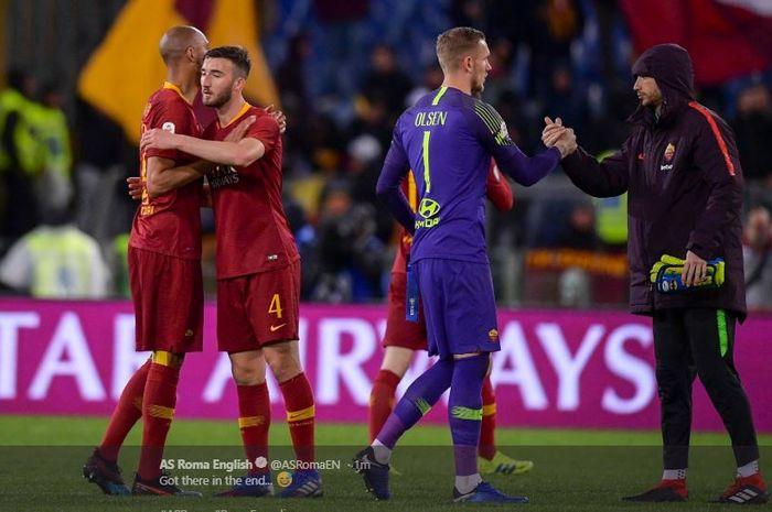 AS Roma menang 2-1 atas Empoli dalam lanjutan Liga Italia pekan ke-27 di Stadion Olimpico, 11 Maret 2019.