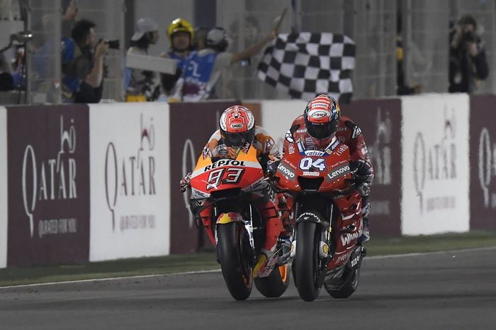 Andrea Dovizioso juara MotoGP Qatar 2019 berkat tombol ajaib di motor balapnya