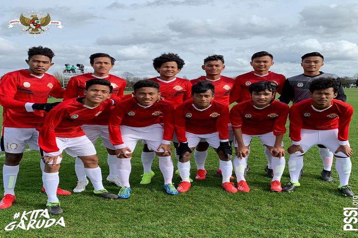 Skuat Garuda Select menang 4-0 atas Blackburn Rovers U-18, Selasa (12/3/2019)